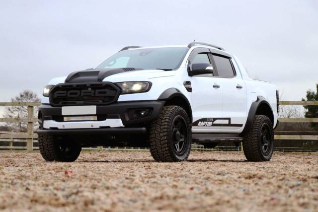 Ford Ranger 2.0 Seeker Raptor Bi-turbo 10 speed with Upgraded Raptor style Bumper Pick Up Diesel WhiteFord Ranger 2.0 Seeker Raptor Bi-turbo 10 speed with Upgraded Raptor style Bumper Pick Up Diesel White at Seeker UK Chesterfield
