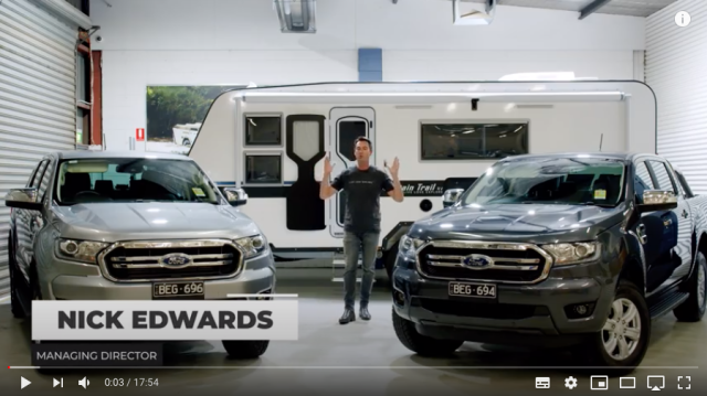 Ford Ranger 2020 3.2 litre vs 2.0 litre Bi-turbo Tow Test by Mountain Trail RV